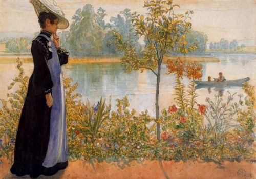 Late Summer - Karin by the Shore by Carl Larsson
