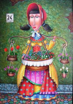FLOWER GIRL - Zurab Martiashvili, Artist
