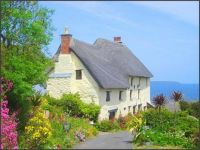 House with a view of the sea in Cornwall