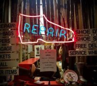 Shoe Repair Window, NYC