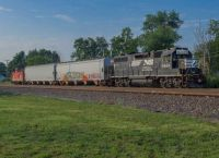 NS local B23 shoves to work Brunk in Goshen, Indiana