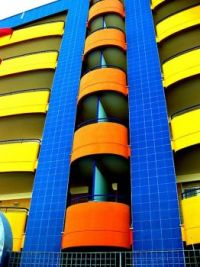 Blue and Yellow Building, Italy
