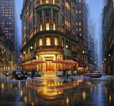 Beautiful Night Cityscapes Painting by Alexey Butyrsky