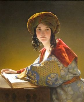 'The Young Eastern Woman' by Friedrich Amerling, 1838