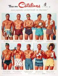 Catalinas Men Swimsuits 1950