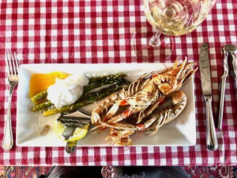 Langoustine dish