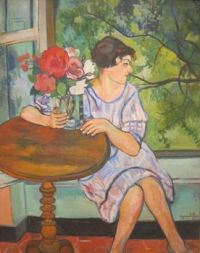 Suzanne Valadon (French, 1865-1938), Young Girl in Front of a Window (1930)
