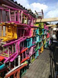 Kleurige stoeltjes