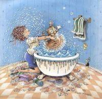 Cat Bath Humor 9/02
