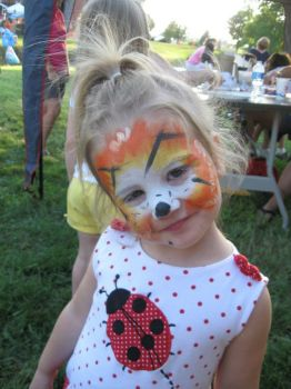 Cutie with painted face