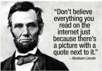 Solid advice from Abe