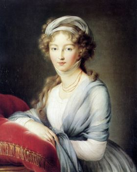 Le Brun - portrait-of-empress-elisabeth-alexeievna-of-russia-1795