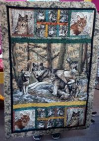 Quilt made from panels