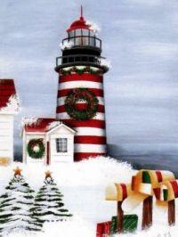 Lighthouse Christmas art