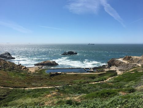 Sutro Baths from the Point Lobos Visitors Center
