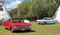 1959 Chevy El Camino VS 1957 Ford Ranchero..  bandit