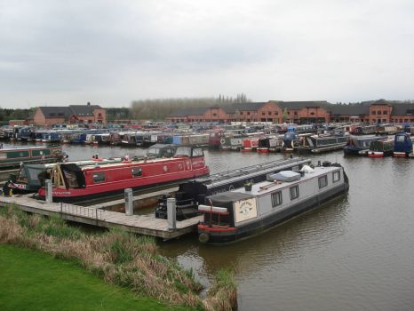 Barton Marina, on the Trent and Mersey canal near Burton on Trent