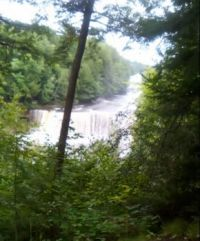 Upper Tahquamenon Falls--View from lookout above