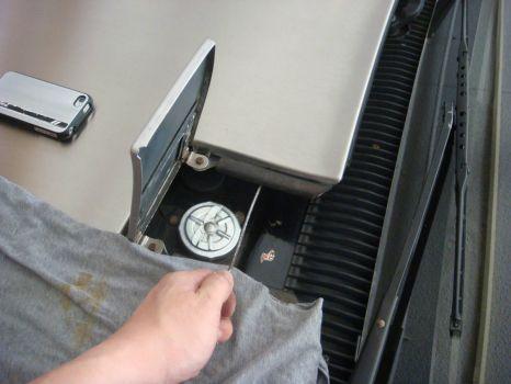 Delorean Fuel Filler Flap on Hood