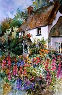 English Summer Cottage by Sherri Crabtree