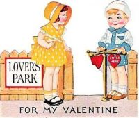 Themes Vintage illustrations/pictures - Valentine Card