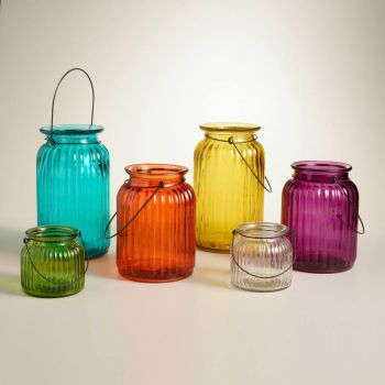 glass lanterns - small