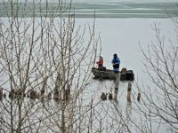 Sign of spring -- people fishing from boats and not ice houses