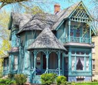 Turquoise Victorian Home