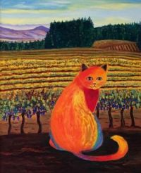 Wine Country Cat