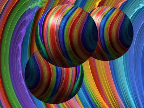 Rainbow Surf Balls by Thelma1