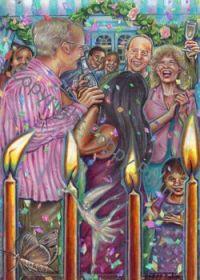 Poppy Palin Art - 'By Candlelight'