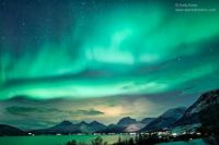 Aurora over Norwegian Fjord by Andy Keen