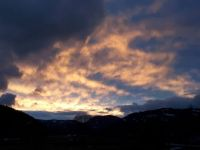 Fire in the sky ... over Midway, BC, Canada