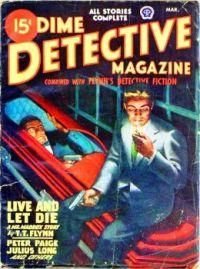 Dime Detective Magazine March 1947