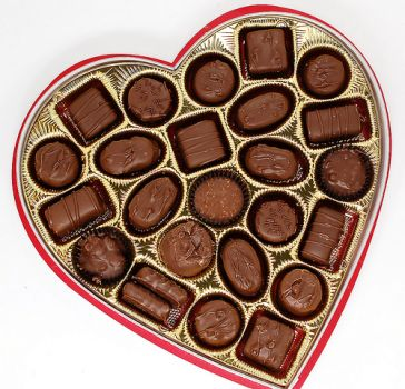 Russell Stover Chocolate Happy Valentine's Day inside