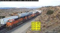 BNSF-6887, 4753, 4464, 3910 at Hesperia,CA/USA