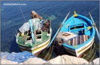 Colourful fishing boats, Tunisia