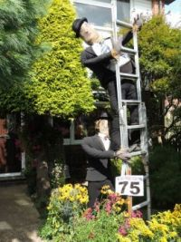 Laurel and Hardy Scarecrows