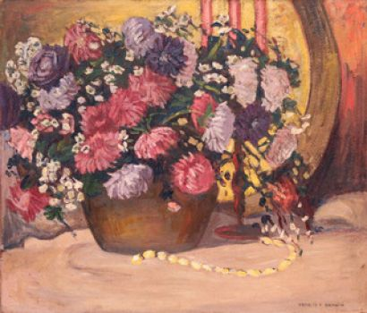 Floral Stiil Life by Francis Focer Brown