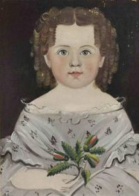 William Matthew Prior, Portrait of a Young Girl In A Gray Dress~dated1841