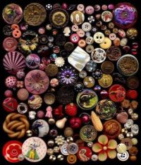Display of Vintage Buttons