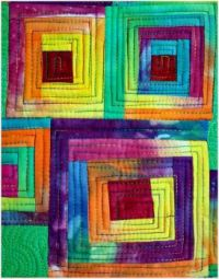 Abstract Art Quilt by Marytequilts