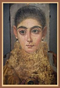 "Fayum mummy portrait – ""L'Européene"", circa 120 – 130CE"
