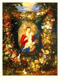 Mary virgin and child, by Rubens..... I thought this was pretty