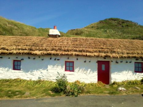Manx cottages Niarbyl, Isle of Man