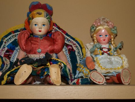 Dolls on a Shelf