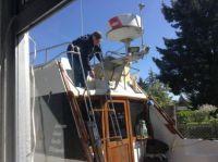Jane getting repairs on Vancouver Island