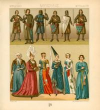 Auguste Racinet- Costumes Middle Ages