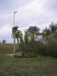 My Weather Station outside the back door (in October of 2012)