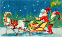 Father Christmas and his Goat-Drawn Sleigh